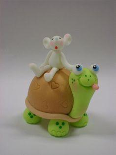 Fondant mouse & tortoise