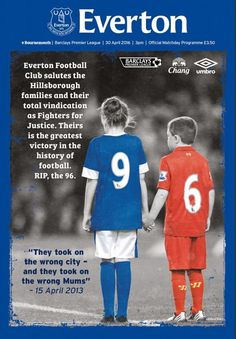 Everton have paid tribute to the families of the Hillsborough disaster's victims in their latest match-day programme (via Mirror). The Toffees, Liverpool History, Liverpool Home, Liverpool Football Club, Best Football Team, Football Program, Hillsborough Disaster, Liverpool You'll Never Walk Alone, Gerrard Liverpool, This Is Anfield