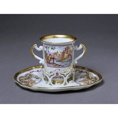 Trembleuse cup and saucer | Du Paquier porcelain factory | V&A Search the Collections