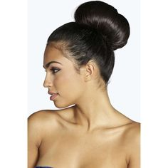 Boohoo Medium Bun Ring ($4) ❤ liked on Polyvore featuring beauty products, gift sets & kits and black