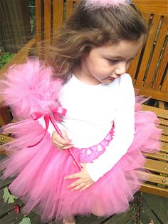 Pretty DIY Tutu and ballerina wand tutorial from The Modest Homestead