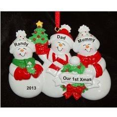 Our Family's First Christmas Together | Hand Personalized Christmas Ornaments by Russell Rhodes First Christmas Together Ornament, Family Christmas Ornaments, Family Ornament, Baby Ornaments, Personalized Christmas Ornaments, Xmas, Polymer Clay Ornaments, Polymer Clay Christmas, Fimo Clay