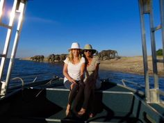 The Zambezi Queen in our hats! Luxury Houseboats, African Countries, Queen, Adventure, Hats, Hat, Adventure Movies, Adventure Books, Hipster Hat
