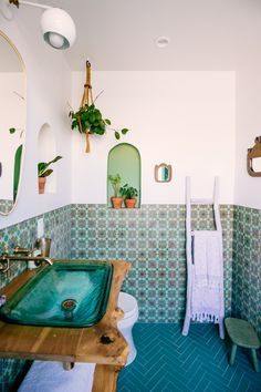 Fireclay tile in our new Jungalow bathroom | The JungalowThe Jungalow
