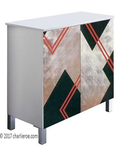 Designers Makers Of Donald Deskey Art Deco Cubist Painted Bathroom Vanity Unit Bath Panels Furniture