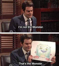 SNL hahaha bill hader never ceases to make me laugh!