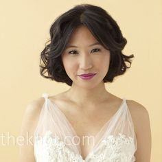 Tousled Bob This hairstyle works for long hair too, just pin the bottom of the hairstyle up to create the look. Hair and Makeup by Once Upon A Bride