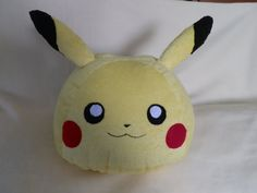 Cute Pikachu Pokemon Pillow or Plush / Handmade by MarukaHeart
