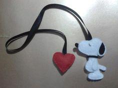 Marca página | Snoopy | feltro