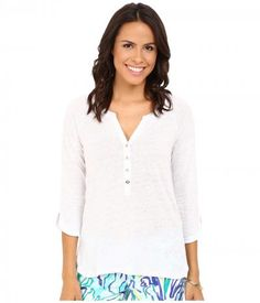 Lilly Pulitzer - Egret Top (Resort White) Women's Clothing