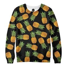 f8ec193509f3 Pineapple Clothes, Pineapple Room, Printed Sweatshirts, Mens Sweatshirts,  Down Shirt, T