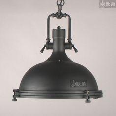 Vintage Rh loft iron lid pendant light vintage american restaurant lamps for home modern 1pc/lot US $260.44
