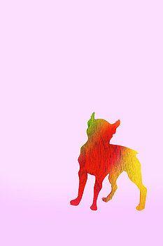 Nursery Animal Art - Dog by Donald Erickson