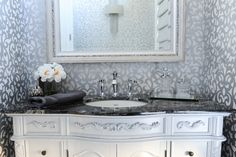 Powder Room designed by Enviable Designs