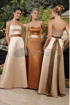 Sweetheart Floor-Length Satin Bridesmaid Dresses