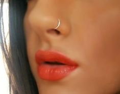 Tiny Fake Nose Ring Hoop Piercing by MiraClesStudio on Etsy