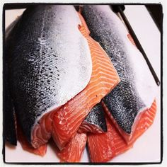 Our expert fish cutters have been busy. Fresh fillets of Kanaloa's Wester Ross Scottish Salmon, one of our most popular fish. #seafood #seafoodporn #sustainable #santabarbara #seafoodlover #seafoodmarket #santabarbaraliving #sustainableseafood #fish #fishmarket