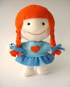 felt doll..Happy Valentine's Day Vylette <3