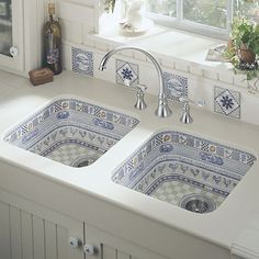 2 bowl ceramic kitchen sink LIFE IN THE COUNTRY™******LOVE
