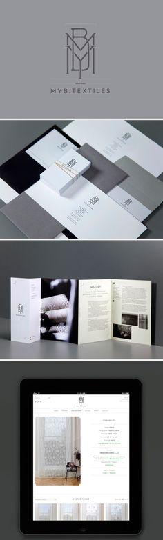 identity / MYB textiles   #stationary #corporate #design #corporatedesign #identity #branding #marketing < repinned by www.BlickeDeeler.de   Take a look at www.LogoGestaltung-Hamburg.de