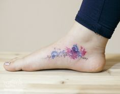한글 타투 by 타투이스트 리버. Korean lettering tattoo. 한글문신. 수채화타투. 발타투. 분당타투