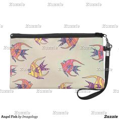 For a wonderful grab-and-go option when you are heading out for a fun night check out our fantastic selection of Fun wristlets! Angel Fish, Fishing Gifts, Personalized Gifts, Cute, Bags, Handbags, Personalised Gifts, Kawaii, Totes