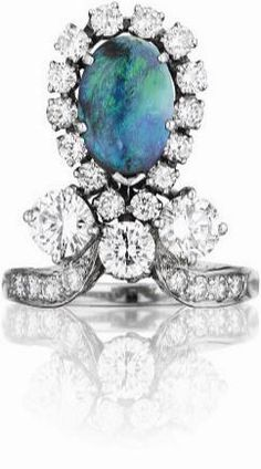 An Art Deco Opal and Diamond Ring