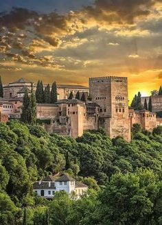 I'll be visiting soon. Alhambra Spain, Granada Spain, Andalusia Spain, Beautiful Castles, Beautiful World, Beautiful Places, Places To Travel, Places To Visit, Le Palais