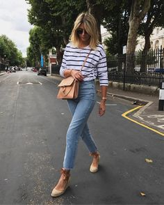 Casual Chic To Summer Outfit 2019 Looks Amazing 23 Espadrilles Outfit, Wedges Outfit, Fashion Mode, Fashion Outfits, Womens Fashion, Fashion Beauty, Preppy Fashion, Classy Fashion, Fashion Hair
