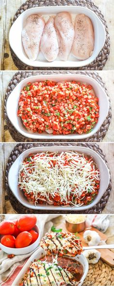 How to make Bruschetta Chicken Bake Step by Step