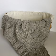 Playful Stripes baby blanket crochet pattern - for the modern baby girl or boy - by Little Monkeys Design.