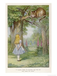 Cheshire Cate by John Tenniel. Giclee print from Art.com.