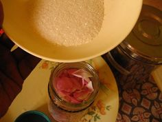 How to make Gulkand (Rose Petal Jam) at home - The flowers of Rosa × damascena, more commonly known as the the Damascus rose, are used for making Gulkand.