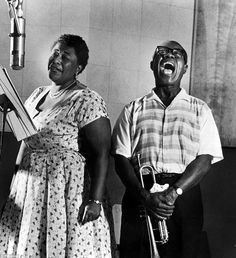 Ella Fitzgerald and Louis Armstrong record the album Ella And Louis in 1956