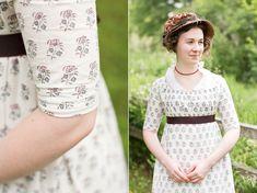 Mode de Lis: · Regency Block-Printed Dress · Regency Dress, Regency Era, Festival Dress, Historical Clothing, Elegant Woman, Day Dresses, Beautiful Dresses, Vintage Fashion, Clothes For Women