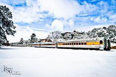 Grand Canyon Railway - Snow covered Grand Canyon, Arizona