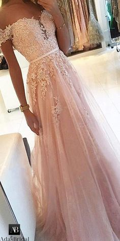 pink prom dress A Line party dress Appliques Prom Dress with off shoulder evening dress Pinkes Ballkleid A Line Partykleid Appliques Ballkleid mit schulterfreiem Abendkleid Pretty Prom Dresses, Prom Outfits, A Line Prom Dresses, Tulle Prom Dress, Tulle Lace, Beaded Lace, Pink Lace, Homecoming Dresses Long, Prom Dresses Light Pink