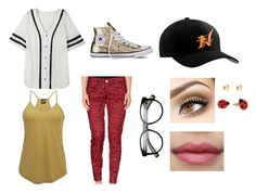 """""""Love Game"""" by hai-i-love-oreos on Polyvore featuring Converse, Nach Bijoux, Angie and Maison Clochard"""