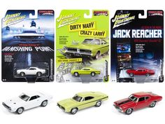 Muscle Cars USA 2017 Release 3 Set of 3 Cars 1/64 Diecast Model Cars by Johnny Lightning