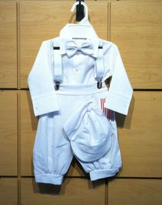 DapperLads - White Linen Knicker Set - Infants 3 mo - 24 mo - infant size boys clothing, clothes for infants and baby boys 3 months to 24 months