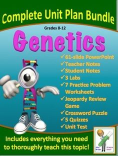 Genetics Complete Unit Plan Bundle of Products - I wish we had this way to market stuff when I was teaching.  I should still get some of my units together!