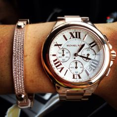 Michael Kors Rose Gold Watch & Bangle #obsessed