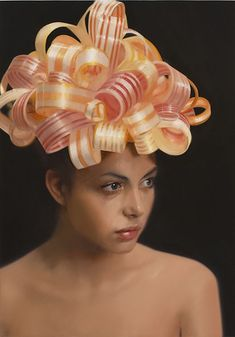 Will Cotton, Ribbon Candy, 2008, oil on linen, 34 x 24 inches.
