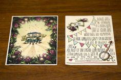 Protea Banner Illustrations Invite