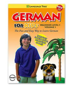 Look at this #zulilyfind! Beginner German for Kids Volume 1 DVD & Booklet by Language Tree #zulilyfinds