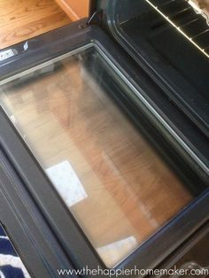 Learn how to clean oven glass inside, outside, and in between with this easy step by step tutorial!