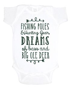 Adorable gifts for baby boys custom vinyl boy onesies etsy hunting and fishing baby one piece baby shower gift southern baby bodysuit baby negle Images