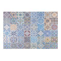 Tappeto in tessuto con motivi a mattonelle di cemento multicolore 150x230cm | Maisons du Monde