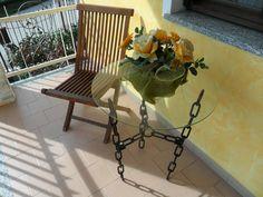 tavolo costruito artigianale compresa catena adatto per interni o esterni
