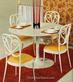 Dinettes  dining tables from Daystrom (1972) my parents had this one!